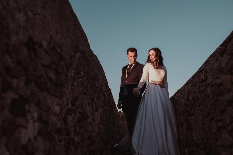 fotos de novios en castillo de Gibralfaro malaga